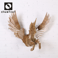 Most popular products 2015 wooden carving animal fly unicorn head wall decor