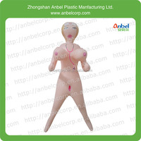 inflatable blow up sex doll for adult bachelor party/printed face and hair