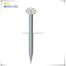 hot dipped galvanization ground screw pile, ground screw pile,screw pile