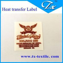 Dark red Faded Glory Famous brand heat transfer Main Label for garment