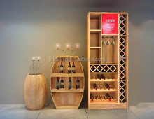 different style wooden wine display showcase
