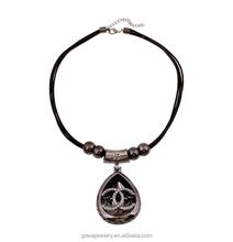 Double C Latest Trends Wax Cord Pendant Wholesale Ornaments Necklace
