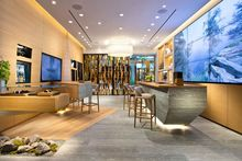 2015 amazing bar displays and reception desk in shops