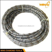 Squaring And Cutting Of Blocks Using In Workshops Diamond Coated Wire Saw