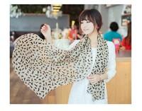 New 2014 Women Korean Style Fashion Spring Autumn Animal Cat Printed Scarf, Chiffon Shawls For Women 7694