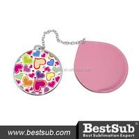 Leather Cased Compact Mirror (JB18)