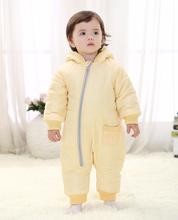 R&H 2015 long-sleeved new design cute hooded custom cute baby rompers