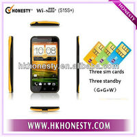 5inch Three Sim Cards MT6572 Dual Core Android Mobile Phone