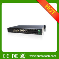 24 port Managed Industrial Ethernet Switch/24 port fiber optic ehternet switch