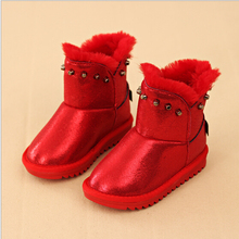 d82081f 2016 korean kids shoes girls new red winter boots snow