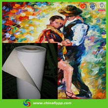 FLY hot sale Solvent Matt Polyester Canvas, oil paintings on canvas china, inkjet canvas roll