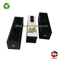 custom made luxury foldable paper wine gift box