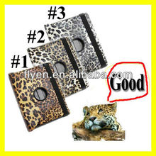 For The New iPad 4 3 2 Leopard Rotating Magnetic Leather Case Stylish Smart Cover Wholesale Cheap Lot Cases Covers 3 colors 3