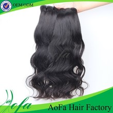 Wholesale natural fast shipping 100 human hair 18 inch cheap hair extension double weft