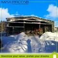 atelier de maison préfabriquée de structure d'acier