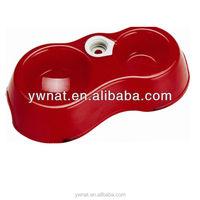 Multi function double dog bowl plastic pet bowls pet dog bowls