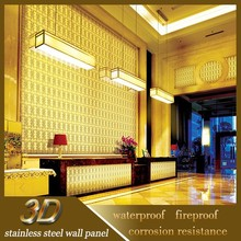 Wholesale Indian Stainless Steel 3D Decorative Wall Metal Art