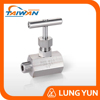 "TAIWAN 1/2"" NPT STAINLESS STEEL HIGH PRESSURE GAS NEEDLE VALVE"
