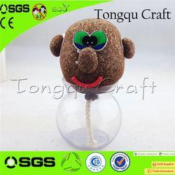 Desktop Decoration toy cutlery play set grass head doll panda soft toy , science kits toy