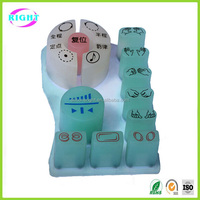 Conductive silicone button pad for massage armchair