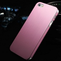 Sales Promotion Brushed metal mobile phone case for iphone 5 5s