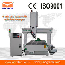 cost of 4 axis woodworking CNC router machine
