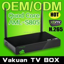 Factory smart tv for Quad Core andorid Amlogic S805 android smart tv converter box