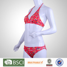 New Design Pretty Pattern Triangle Printed Swimwear Brands