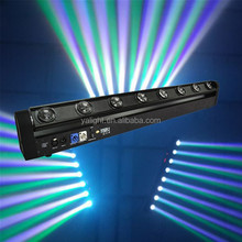 8 x 10W 4in1 rgbw quad color led beam moving head bar light rotation stage