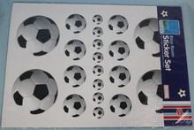 Boy Room Wall Stickers Set Footballs