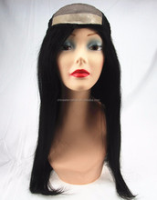 stock lace front wig indian remy hair mono top lace front wig with pu around