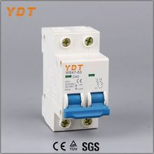 YDT manual transform switch, dz-47-63series mini circuit breaker(mcb), isolating main switch