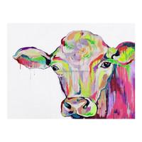 Handmade Cow Animal Decoration Canvas Oil Painting