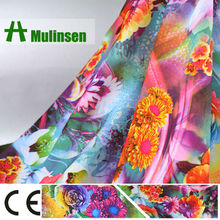 100% Polyester Soft Peach Skin Printed Floral Dress Fabric