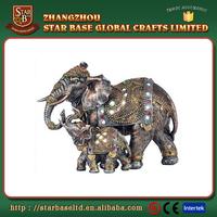 OEM new arrival good quality lifelike luxuriant resin elephant figurine