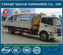 China factory sale Euro4 FOTON 5 tons truck crane