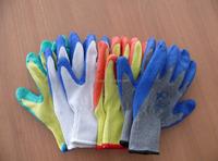 13G polyseter/nylon PU coated safety labor gloves coated glove