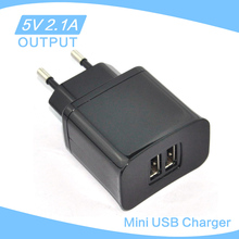 mini bullet dual usb 2-port car charger adaptor 5V 2.1A uk usb charger wall charger usb