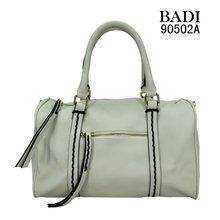 badi white fashion metal zipper leather tote handbags leather designer handbags
