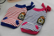 Navy style red and blue stripes small dog puppies for sale