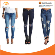 Custom Fashion 100% denim Women Jeans Pants