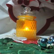 Christmas decoration candle high quality glass wax LED flameless mason jar
