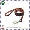 Wholesale Brown Leather Dog Leash Braided Pet Leash