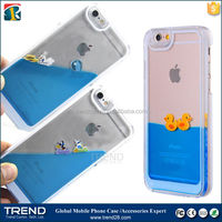 alibaba china 3D liquid transparent clear crystal hard case for apple iphone 6