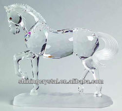 Various shape high quality crystal horse figurine for gift