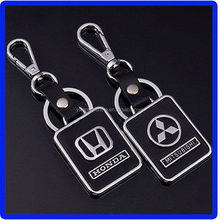 Cheap best sell leather and chrome executive keychain