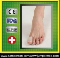 Comfortable soft Silicone gel insole for toes