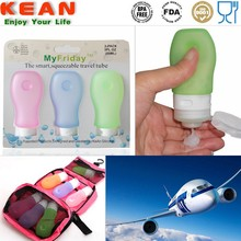 Silicone Cosmetic Travel Bottle Set