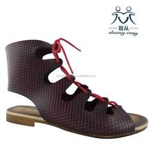 Sophia Kokosalaki calceus Roman sandal flat ladies shoes