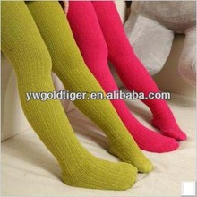 European Hosiery Wholesale Young Girls children Nude Girls Images Warm Thick Knit Cotton Winter colorful Tights
